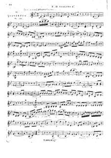 String Quintet No.11 in B Flat Major, Op.33: violino parte II by Georges Onslow