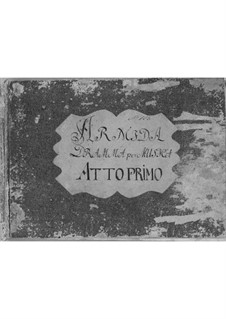 Armida: ato I by Antonio Salieri