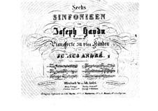 Symphony No.104 in D Major 'London', Hob.I/104: versão para piano de quatro mãos by Joseph Haydn