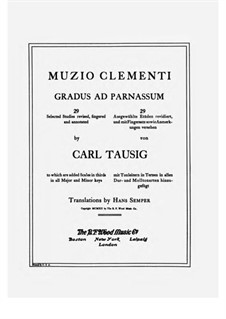 Tausig Edition: set completo by Muzio Clementi