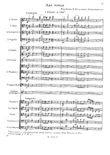 Two Dances: partitura completa by Mikhail Glinka