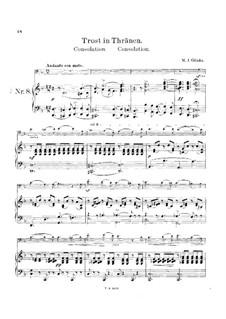 Consolation for Cello and Piano: partitura by Mikhail Glinka