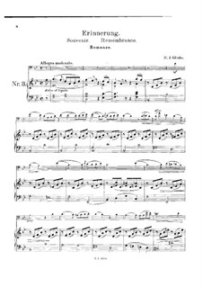 Remembrance for Cello and Piano: partitura by Mikhail Glinka
