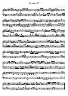 No.13 in A Minor, BWV 784: Para Piano by Johann Sebastian Bach