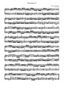 No.11 in G Minor, BWV 782: Para Piano by Johann Sebastian Bach