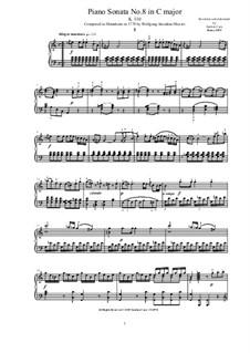 Sonata for Piano No.8 in A Minor, K.310: para um único musico (Editado por H. Bulow) by Wolfgang Amadeus Mozart