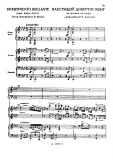 Brilliant Divertimento on Themes from 'La sonnambula' by Bellini: For two pianos six hands by Mikhail Glinka