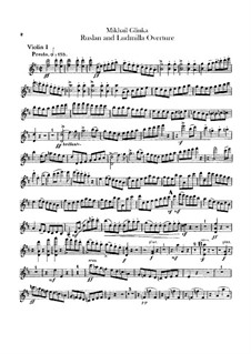 Overture: violinos parte I by Mikhail Glinka