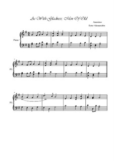 As with Gladness Men of Old: Para Piano by Conrad Kocher