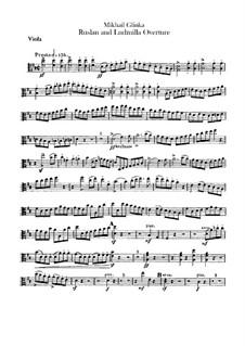 Overture: parte viola by Mikhail Glinka