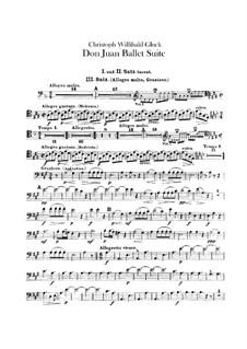 Don Juan. Ballet Suite, Wq.52: parte fagotes by Christoph Willibald Gluck
