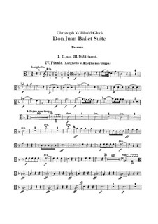 Don Juan. Ballet Suite, Wq.52: parte Trombones by Christoph Willibald Gluck