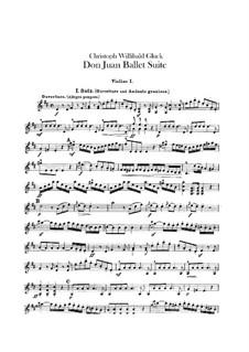 Don Juan. Ballet Suite, Wq.52: violinos parte I by Christoph Willibald Gluck