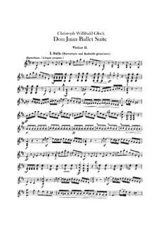 Don Juan. Ballet Suite, Wq.52: violinos parte II by Christoph Willibald Gluck