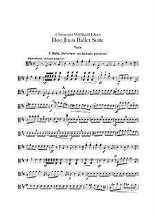 Don Juan. Ballet Suite, Wq.52: parte violas by Christoph Willibald Gluck