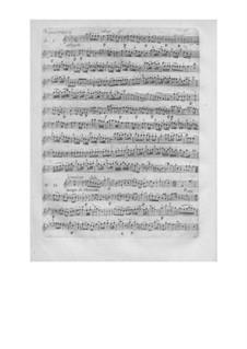 L'arbre enchanté (The Magic Tree), Wq.42: parte de oboes by Christoph Willibald Gluck