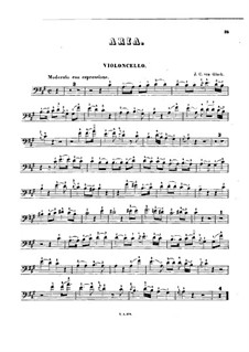 Iphigenia in Tauris, Wq.46: Act I, No.3 Aria, for cello and piano – solo part by Christoph Willibald Gluck
