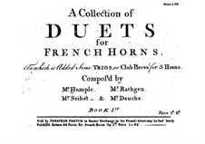 Collection of Duets and Trios for French Horns: Collection of Duets and Trios for French Horns by Anton Joseph Hampel