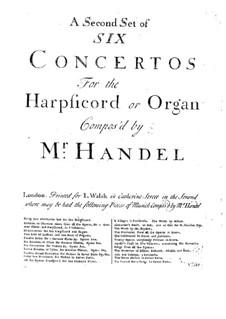 Complete set, HWV 295-300: set completo by Georg Friedrich Händel