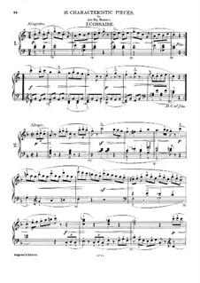 Sixteen Characteristic Pieces: Peças No.1-2 by Johann Nepomuk Hummel