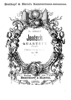 String Quartet in F Minor, Op.49: String Quartet in F Minor by Max Jentsch