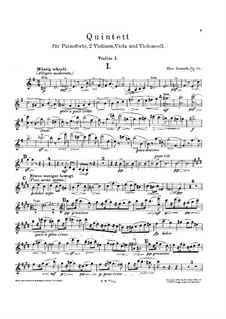Quintet for Piano and Strings in G Major, Op.50: Quintet for Piano and Strings in G Major by Max Jentsch
