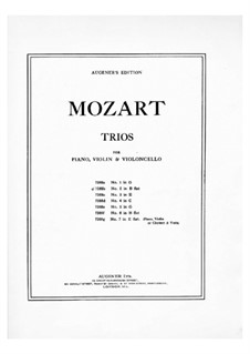 Trio for Violin, Cello and Piano in B Flat Major, K.502: partituras completas, partes by Wolfgang Amadeus Mozart