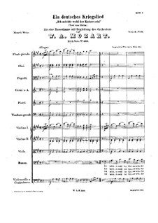 Ich möchte wohl der Kaiser sein (Meine wünsche), K.539: A maior by Wolfgang Amadeus Mozart