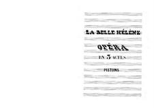 La belle Hélène (The Beautiful Helen): parte cornetas by Jacques Offenbach
