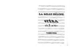 La belle Hélène (The Beautiful Helen): parte trombone by Jacques Offenbach