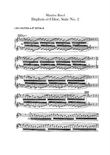 Daphnis et Chloé. Suite No.2, M.57b: parte flauta by Maurice Ravel