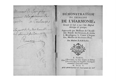 Démonstration du principe de l'harmonie: All Book by Jean-Philippe Rameau