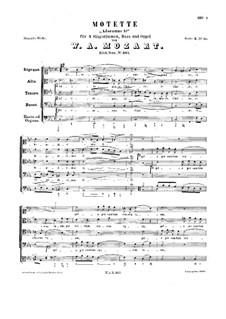 Adoramus te for Voices and Basso Continuo, K.327: Adoramus te for Voices and Basso Continuo by Wolfgang Amadeus Mozart