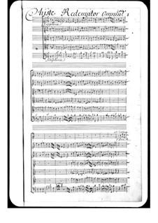 Christe redemptor omnium: Christe redemptor omnium by Michel Richard de Lalande