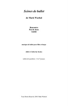 Scènes de ballet: partitura by Mark Warhol