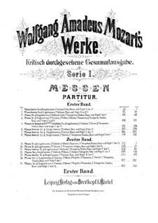 Mass No.1 in G Major (Missa brevis No.1), K.49: Mass No.1 in G Major (Missa brevis No.1) by Wolfgang Amadeus Mozart