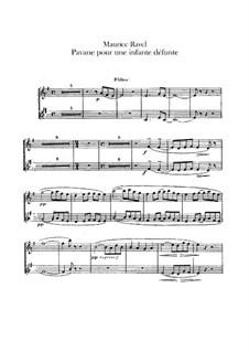 Pavane pour une infante défunte (Pavane for a Dead Princess), M.19: Para orquesta - partes em flautas by Maurice Ravel