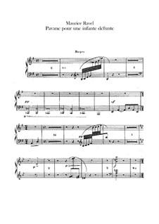 Pavane pour une infante défunte (Pavane for a Dead Princess), M.19: For orchestra – harps part by Maurice Ravel
