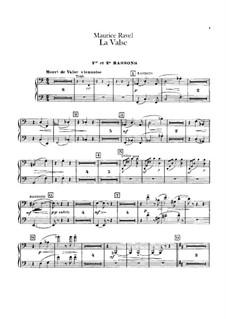 La valse. Choreographic Poem for Orchestra, M.72: parte fagotes by Maurice Ravel