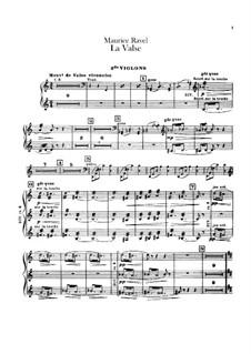 La valse. Choreographic Poem for Orchestra, M.72: violino parte II by Maurice Ravel