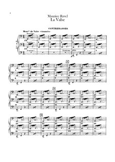 La valse. Choreographic Poem for Orchestra, M.72: Parte contrabaixo by Maurice Ravel
