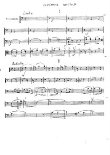 Autumn Leaves: Score for string orchestra – Cello part by Vladimir Ivanovich Rebikov