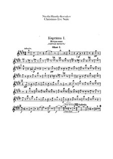 Christmas Eve. Suite: parte de oboes by Nikolai Rimsky-Korsakov