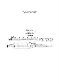 Christmas Eve. Suite: parte trompetas by Nikolai Rimsky-Korsakov