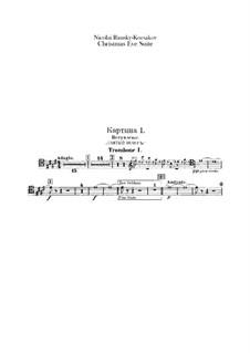 Christmas Eve. Suite: parte de trombones e tubas by Nikolai Rimsky-Korsakov