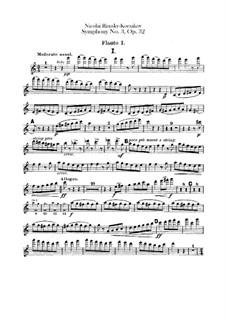 Symphony No.3 in C Major, Op.32: parte de flautas by Nikolai Rimsky-Korsakov