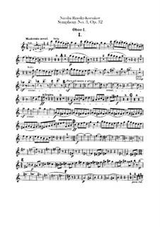 Symphony No.3 in C Major, Op.32: parte de oboes by Nikolai Rimsky-Korsakov