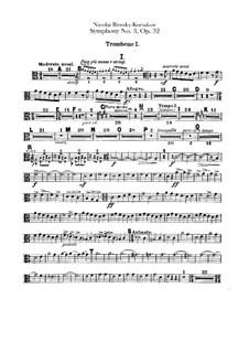 Symphony No.3 in C Major, Op.32: parte de trombones e tubas by Nikolai Rimsky-Korsakov