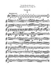 Symphony No.3 in C Major, Op.32: violino parte II by Nikolai Rimsky-Korsakov