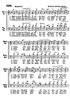 Bald prangt den Morgen: Für Klavier by Wolfgang Amadeus Mozart